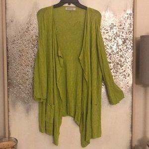 Kasper Lime Green sweater 2x